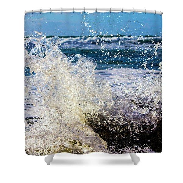 Wave Crash And Splash Shower Curtain