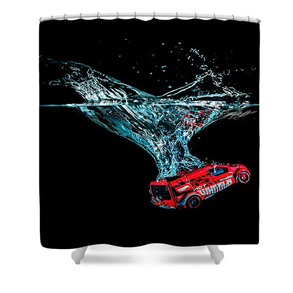 Shower Curtain featuring the photograph Splash Down by Nick Bywater