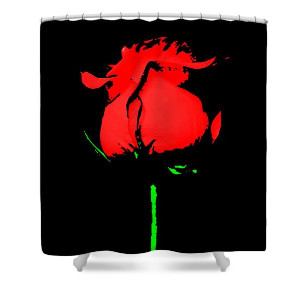 Splash Of Ink Shower Curtain