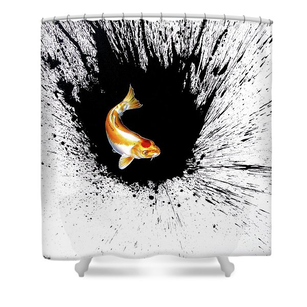 Shower Curtain featuring the painting Splash by Sandi Baker