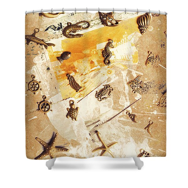 Splashback To The Old Ocean Shower Curtain