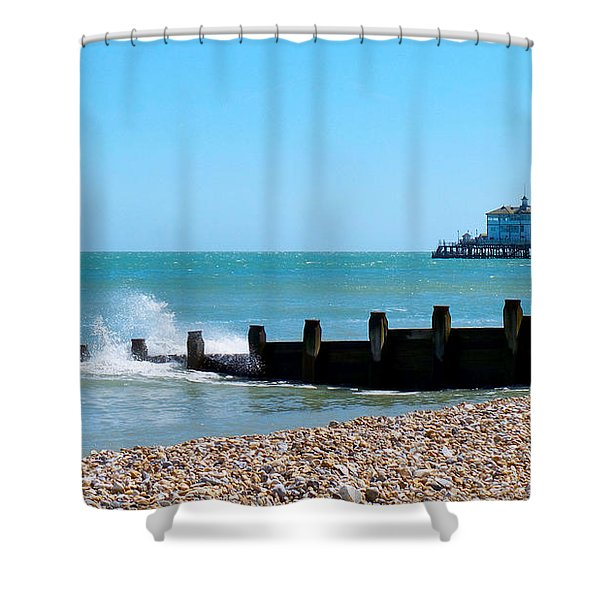 Splashing Waves By The Sea Shower Curtain