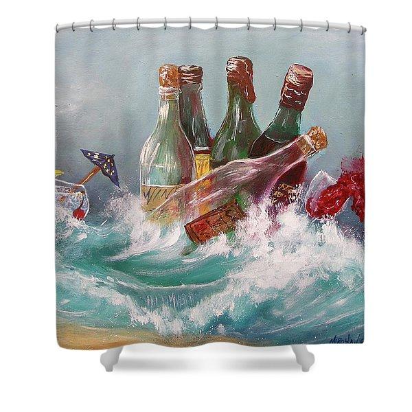 Splattered Wine Shower Curtain