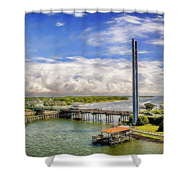 Splendid Bridge Shower Curtain