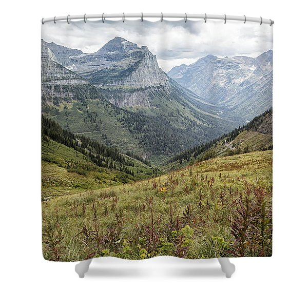 Splendor From Highline Trail - Glacier Shower Curtain