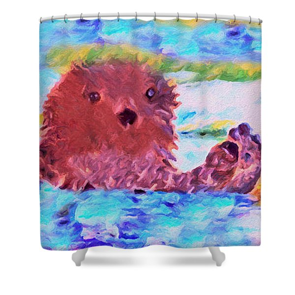 Shower Curtain featuring the painting Splish Splash by David Millenheft