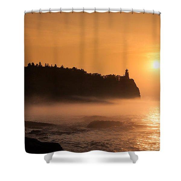 Split Rock's Morning Glow Shower Curtain