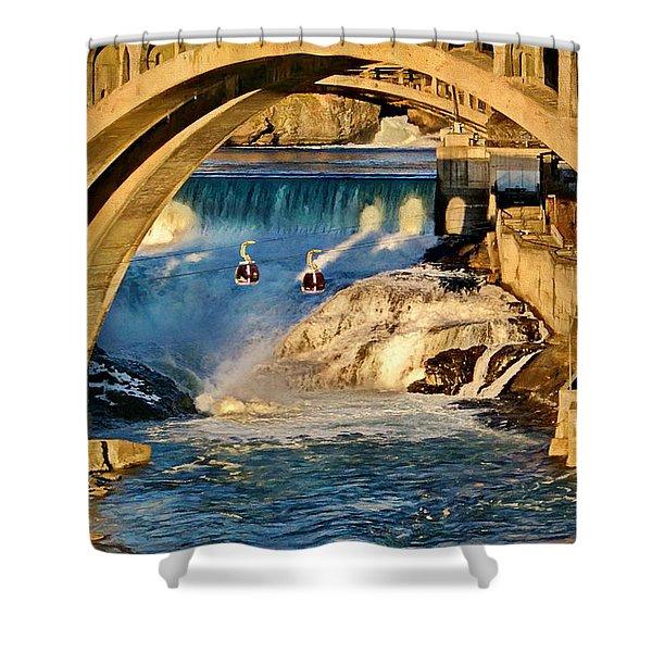 Spokane Monroe Street Bridge Shower Curtain