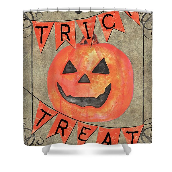 Spooky Pumpkin 1 Shower Curtain