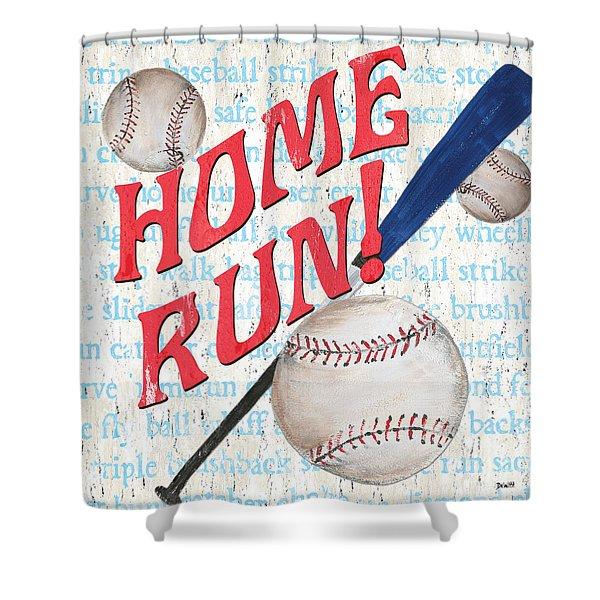 Sports Fan Baseball Shower Curtain
