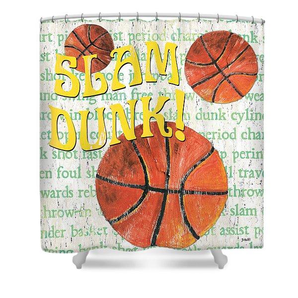 Sports Fan Basketball Shower Curtain