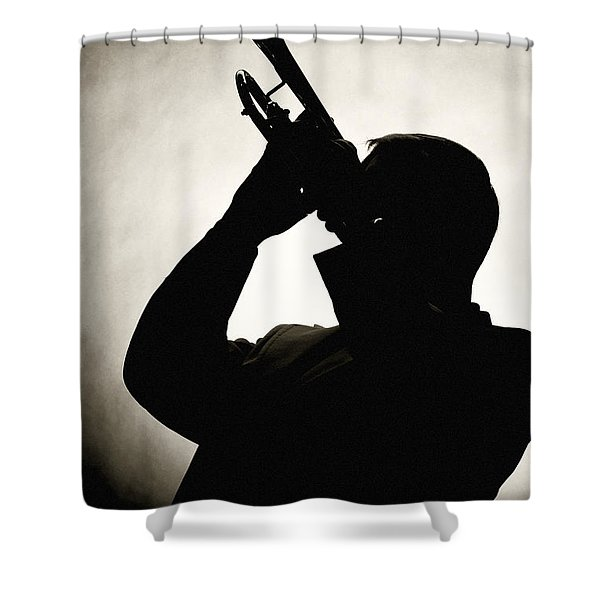 Spotlight Performer Shower Curtain