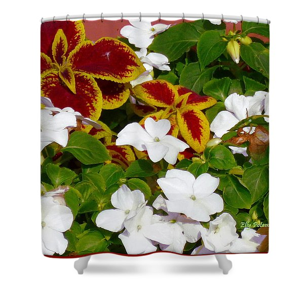Spring Annuals Shower Curtain