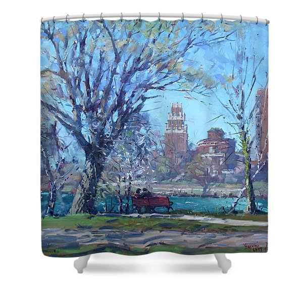 Spring At Goat Island Shower Curtain