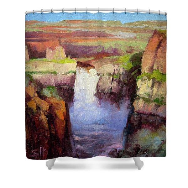 Spring At Palouse Falls Shower Curtain