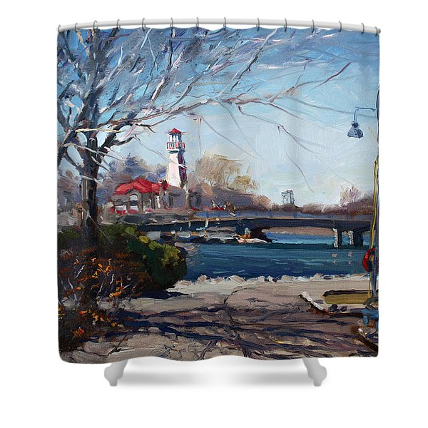 Spring At Port Credit Shower Curtain
