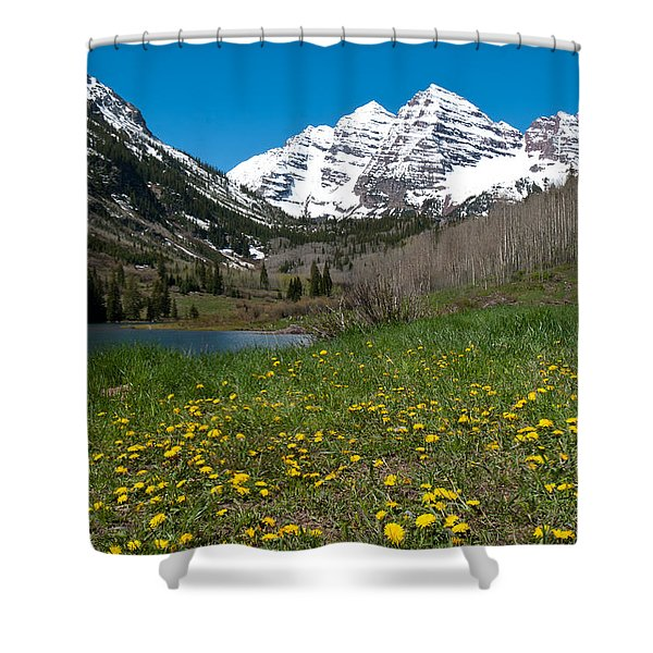 Spring At The Maroon Bells Shower Curtain