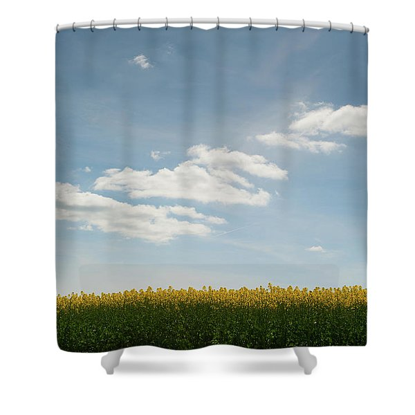 Spring Day Clouds Shower Curtain