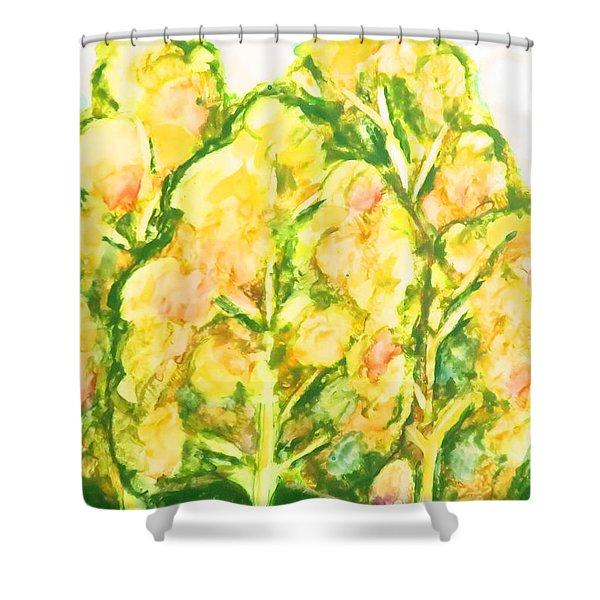 Spring Fantasy Foliage Shower Curtain