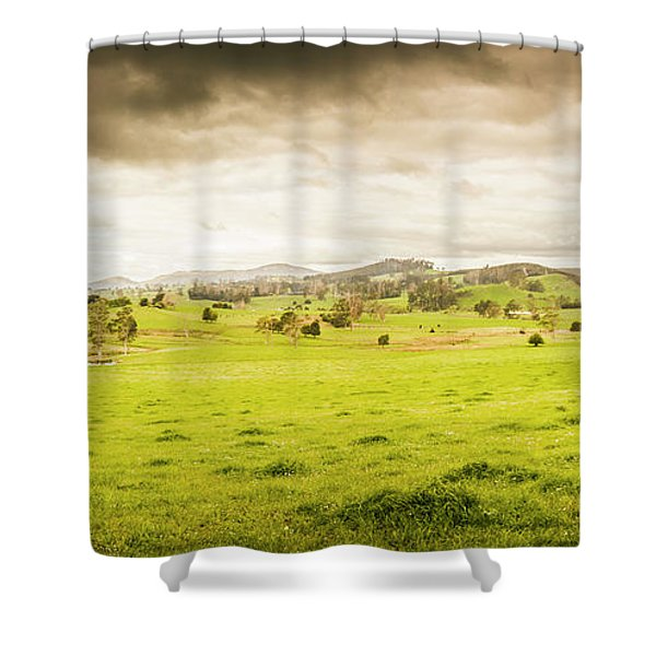 Spring Field In Springfield Shower Curtain