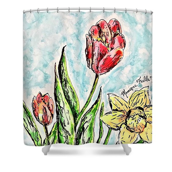 Spring Flowers Shower Curtain