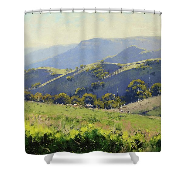 Spring Grasses Shower Curtain