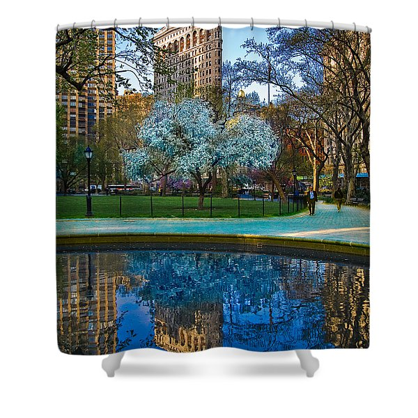 Spring In Madison Square Park Shower Curtain