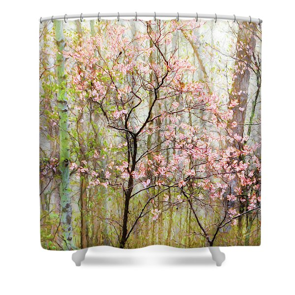 Spring In The Forest Shower Curtain