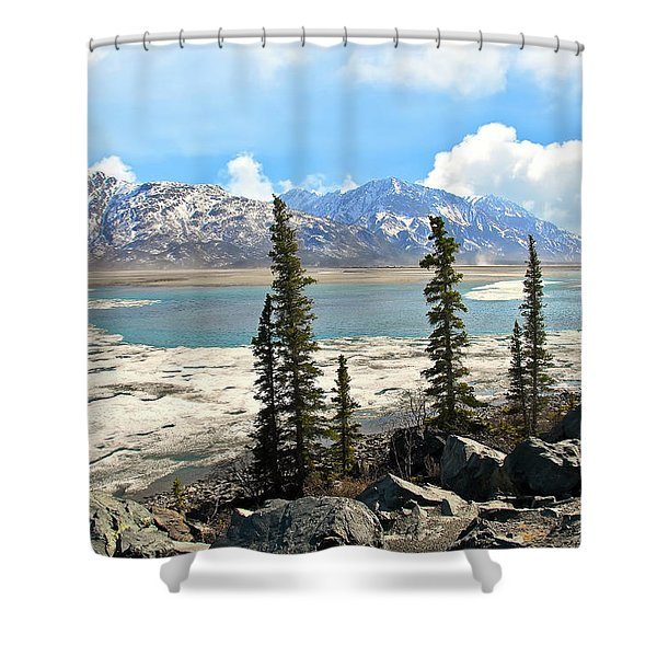 Spring In The Wrangell Mountains Shower Curtain