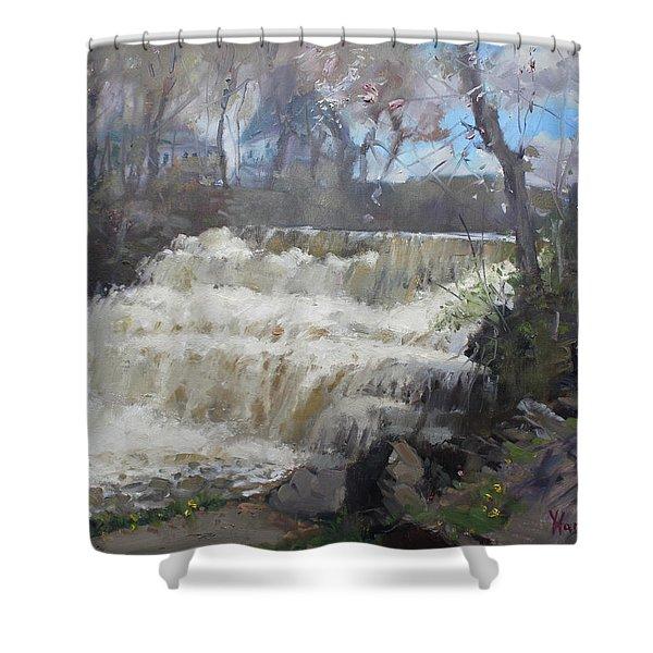 Spring In Williamsville Falls Shower Curtain