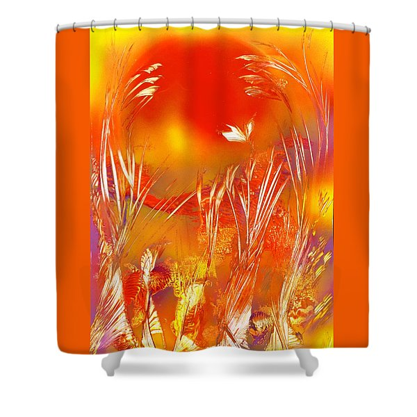 Spring On The Red Planet Shower Curtain