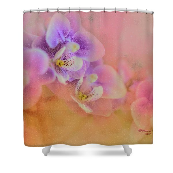 Spring Orchids Shower Curtain