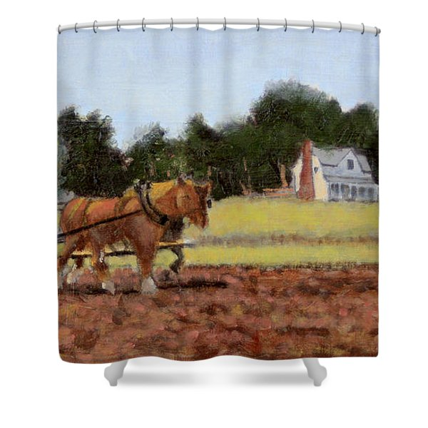 Spring Plowing Shower Curtain