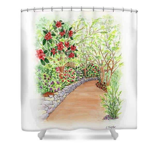 Spring Rhodies Shower Curtain