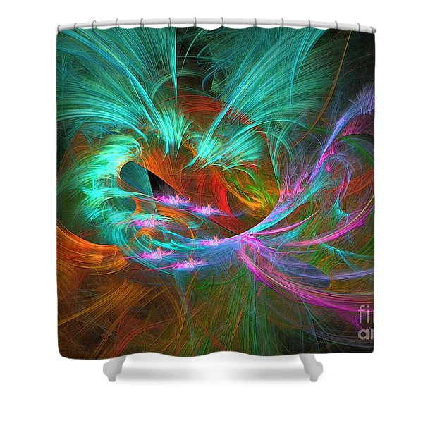 Spring Riot - Abstract Art Shower Curtain