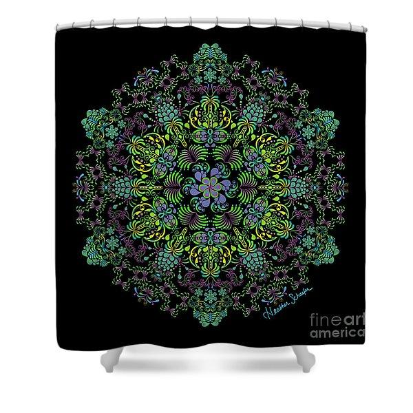 Spring Spiral Shower Curtain
