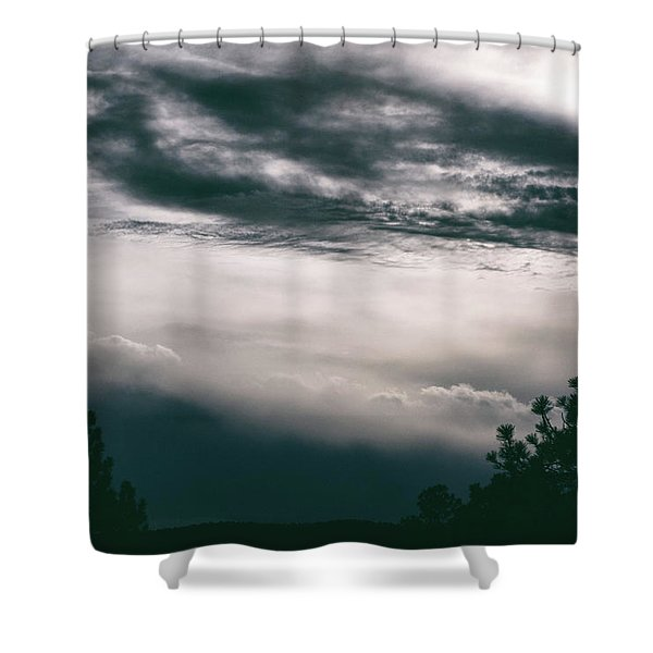 Shower Curtain featuring the photograph Spring Storm Cloudscape by Jason Coward