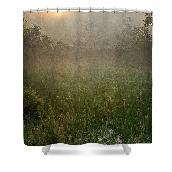 Spring Sunrise In The Valley Shower Curtain