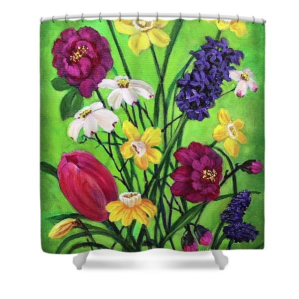 Spring Symphony Shower Curtain