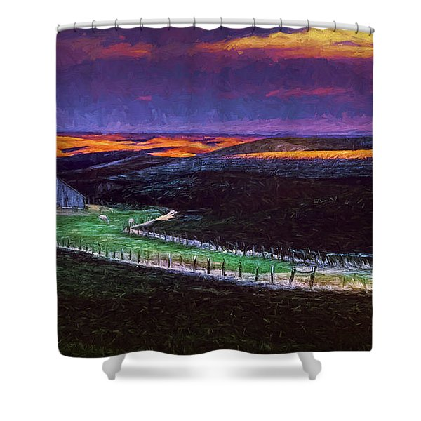 Spring Time Farm Shower Curtain