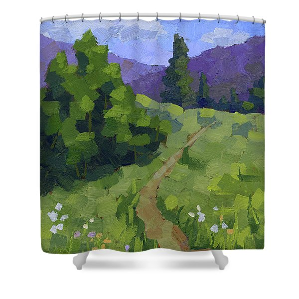 Spring Walk In The Mountains Shower Curtain