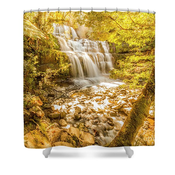 Spring Waterfall Shower Curtain