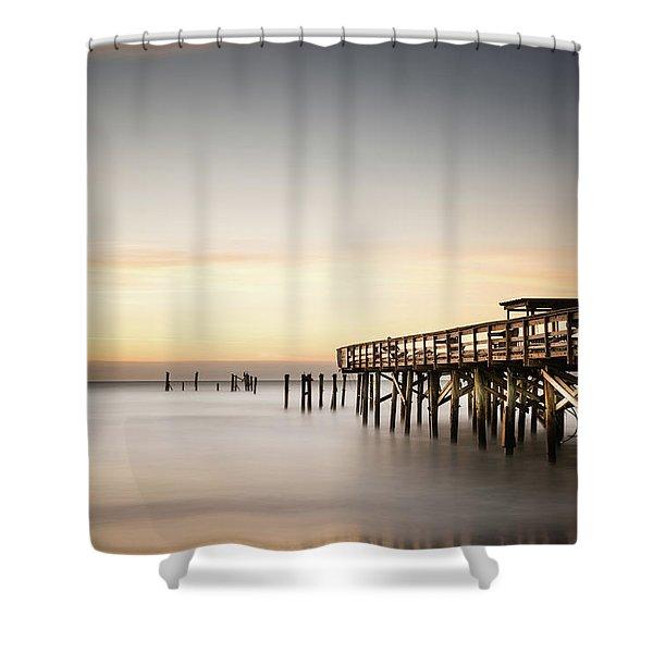 Springmaid Pier Mathew Aftermath Shower Curtain