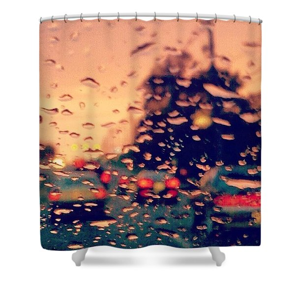 Spring Rain Shower Curtain