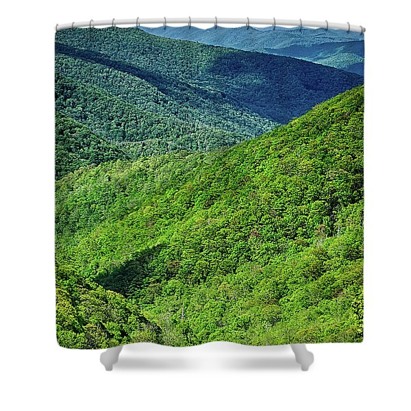 Shower Curtain featuring the photograph Springtime In The Blue Ridge Mountains by Alex Grichenko