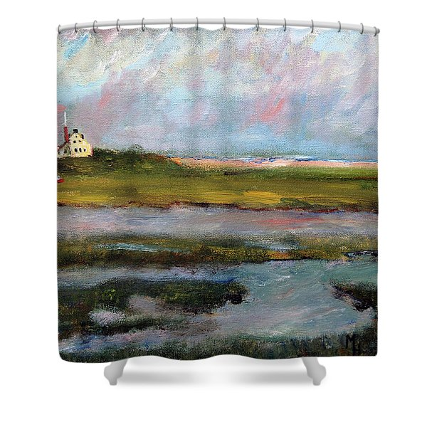 Springtime In The Marsh Shower Curtain