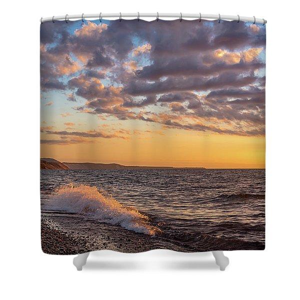 Springtime On Agate Beach Shower Curtain