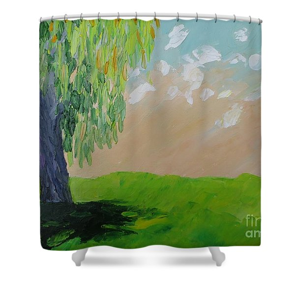 Springtime Willow Shower Curtain