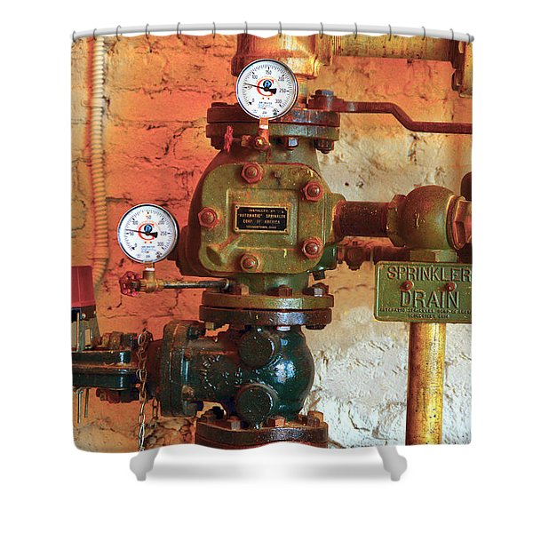 A Spinkle In Time Sprinkler Guages Shower Curtain