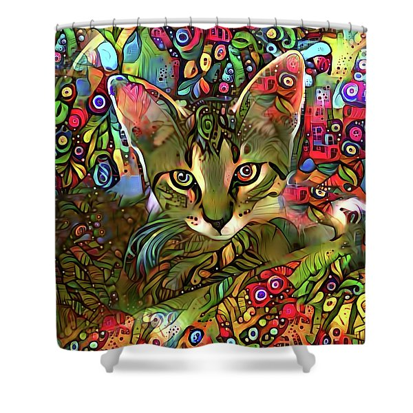 Sprocket The Tabby Kitten Shower Curtain